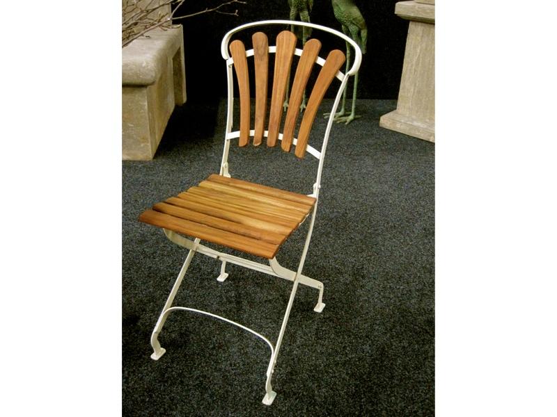 bezaubernde gartenm bel nostalgie 2 x stuhl klappbar tisch mit teakholz ebay. Black Bedroom Furniture Sets. Home Design Ideas