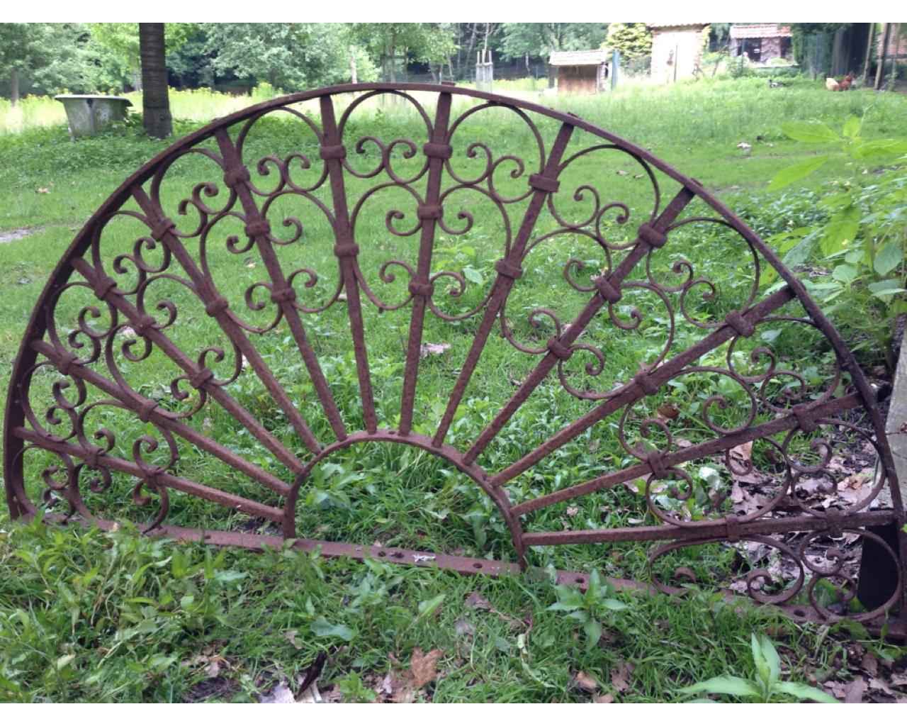 Antiker rundbogen schmiedeeisen fensterbogen gartenmauer rundbogen aus eisen ebay - Gartenmobel schmiedeeisen gebraucht ...