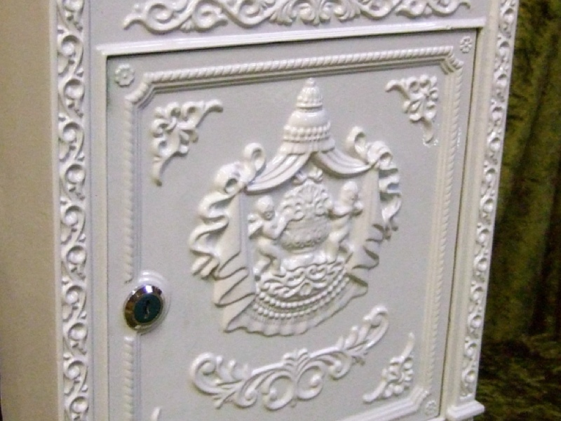 briefkasten london wei aus alu historisch englisch wandbriefkasten postkasten ebay. Black Bedroom Furniture Sets. Home Design Ideas