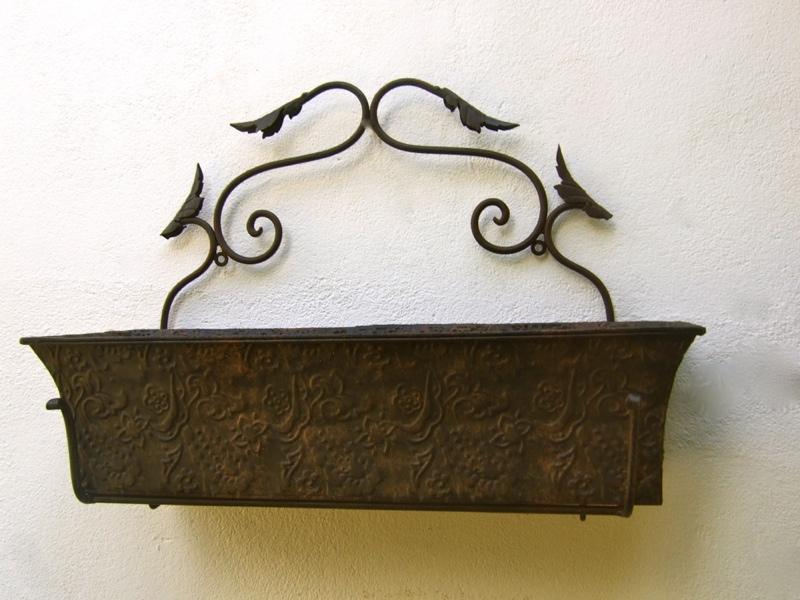Blumenkasten metall geh mmert balkonk sten f landhaus for Gartendekoration landhausstil