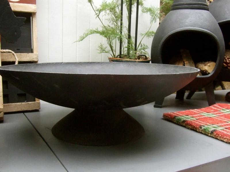 feuerschale 60cm eisenschale outdoor schale f r feuer feuerkorb gartenfeuer. Black Bedroom Furniture Sets. Home Design Ideas