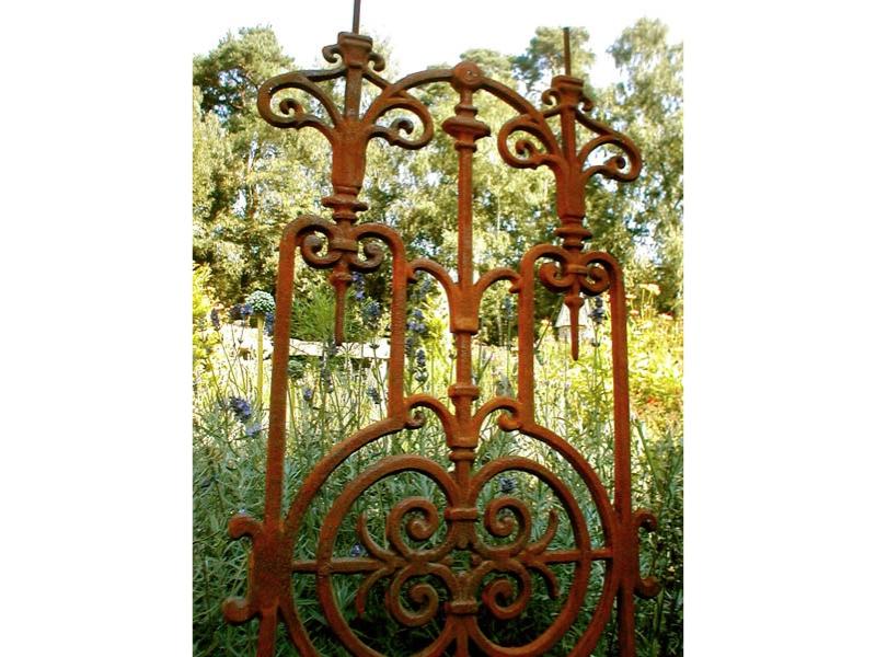 Gitterelement f zaun balkongitter jugendstil gitter ebay - Garten jugendstil ...