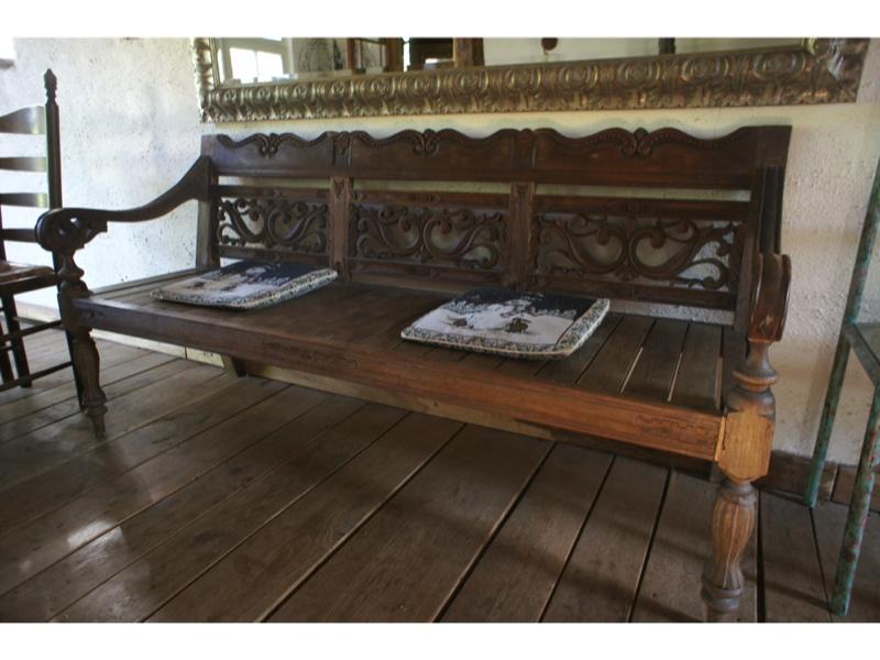 indische bank geschnitzt holzbank alte gartenbank ebay. Black Bedroom Furniture Sets. Home Design Ideas